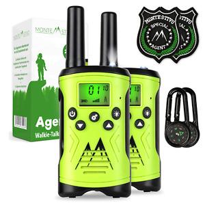 Monte Stivo Agent   Walkie Talkie Set für Kinder mit 2x Kompass und 2x Badge