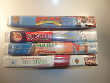(4) Christmas VHS Movies RUDOLPH the RED NOSED REINDEER All Movies New Sealed