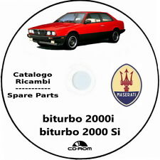 Maserati Biturbo 2000i e 2000 Si Catalogo Ricambio ITA+ENG.Spare Parts Biturbo
