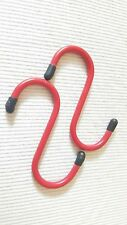 2x S HOOKS WITH RUBBER ENDS Large Hanging Storage Market Stall Display Hanger 4""