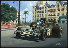 Canvas 1974 Monaco Grand Prix winner Ronnie Peterson (SWE) Toon Nagtegaal (LEF)