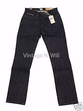 Timberland Mens 32*34 Japanese Raw Slim Fit Denim Jeans Red Selvedge Cinch Back