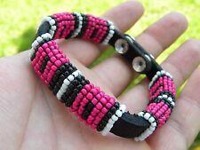 Cuff  Bracelet Buffalo leather handcrafted one of kind Redskins FSU Seminole fan