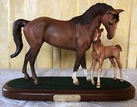 ROYAL DOULTON HORSE & FOAL FIRST BORN  MODEL No. DA 182 CHESTNUT MATT PERFECT