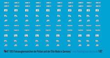 Peddinghaus-Decals 1/87 1053 Fahrzeugkennzeichen der Polizei und der Eliteverbän