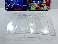 25 SNES / N64 / ATARI JAGUAR Box Protectors   Clear Cases   Super Nintendo N64