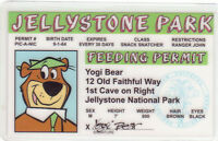 Yogi Bear Jellystone National Pk novelty plastic collectors card Drivers License