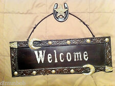 Western Style Leather look Welcome Sign (MA7064)