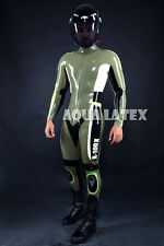 Rubber Latex Moto Catsuit, Custom Moto Bodysuit, Tight Suit