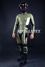 Rubber Latex Moto Catsuit, Custom Moto Bodysuit, Tight Suit