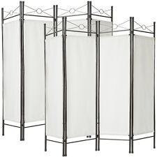 2x 4tlg Raumteiler Trennwand Paravent Umkleide Sichtschutz Spanische Wand Weiß