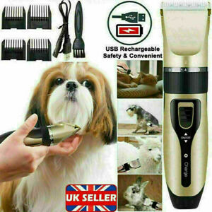 Pet Hair Clippers Low Noise Dog Cat Grooming Clipper Electric Shaver Trimmer Kit