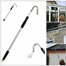 NEW TELESCOPIC Roof GUTTER CLEANER 185cm Removes Leaves Moss WATER JET