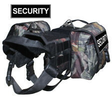Backpack Service Dog Vest Harness Training Removable Side Bags & Label Patches
