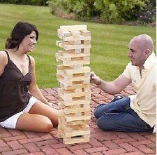 NEW GIANT WOODEN TUMBLING JENGA TOWER GAME OUTDOOR GARDEN FAMILY FUN GAMES