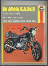 Kawasaki 400 440 Twins KZ Z LTD (1974-1981) Haynes Shop Manual Repair Book AL74