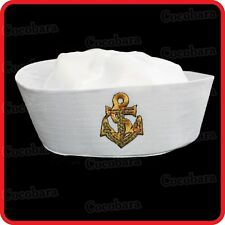 NAVY SAILOR HAT-POPEYE-GOB-SEA,YACHTSMAN,SKIPPER,NAVY,BOAT-PARTY COSTUME-ANCHOR7
