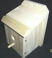 New , Wren Bird House, Unfinished Poplar ( Hand Made In U. S. A. )