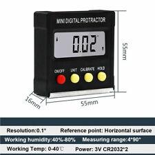 4x90° Mini Calibrador de Inclinómetro de Nivel Magnético Digital Protractor