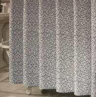 Printed Grey and White Checkered Shower Curtain 72x72in- Elegant