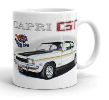 FORD  CAPRI  MK1  V6  GT     QUALITY  11OZ   MUG  ( 6 CAR COLOURS )