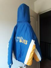 St. Louis Blues Coat or Puffer Jacket Large Mens  with removable hood