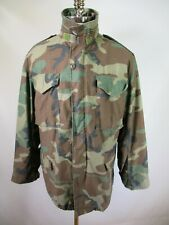F5638 VTG US ARMY M-65 Cold Weather Camouflage Military Jacket Size M Long
