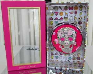 Betsey Johnson Floral Skull Compact Mirror NEW IN BOX!