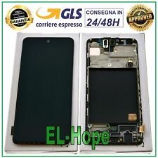 """DISPLAY LCD + FRAME ORIGINALE SAMSUNG GALAXY A51 SM-A515F TOUCH SCREEN 6.5"""" NERO"""