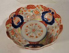 Antique Chinese Japanese Imari Porcelain Bowl Enamel Landscape Decoration