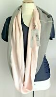 Calvin Klein Infinity Scarf Pink/Gray Scarf NWT $48