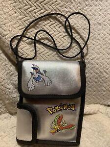 Vintage Pokemon Silver Nintendo GameBoy Carry Bag Case Lugia and Ho-Oh Rare