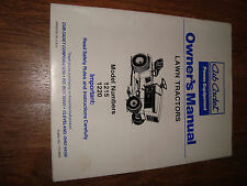 Cub Cadet Lawn Tractor 1215 1220 Owners Manual