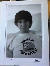 SIGNED Ringo Starr 4/25 George Harrison Beatles photograph Genesis + COA