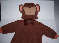 TOM ARMA MONKEY COSTUME 12-18 mo with feet and bowtie Halloween