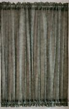 """SMALL GREEN SHEER MOTTLED HALF DOOR CURTAIN 54"""" W BY 35.5"""" L SASH TOP AND BOTTOM"""