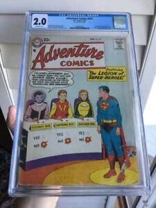 Adventure Comics 247 CGC 2.0 (1958) 1st Appearance LEGION of SUPER-HEROES