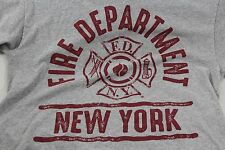 FDNY gray Large T shirt official New York Fire Dept.