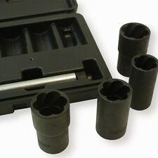 Blackline Locking Wheel Nut Remover Set 17, 19, 21, 22mm 5 Piece Twist Sockets