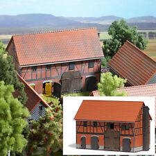 BUSCH 1507 Bauernhof: Scheune mit großem Stall H0 #NEU in OVP#