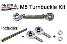 More details for m8 turnbuckle kit adjustment 110mm upwards + lock nuts -choose rod ends to suit
