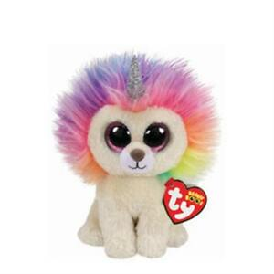 TY BEANIE BOO BOOS LAYLA THE UNICORN LION CLAIRE'S EXCL. MWMT   6 INCHES