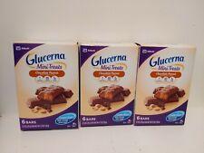 3 GLUCERNA Mini Treats Chocolate Peanut Chocolate Peanut 18 Bars TOTAL Exp 6/20