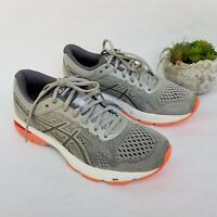 ASICS GT-1000 V6 Gray Silver Coral Peach Women's Running T7A9N Shoes Size 9.5
