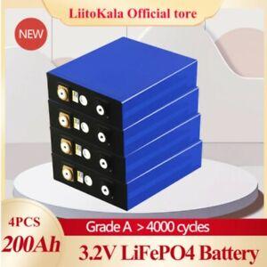 4pcs 3.2v 200ah 90ah 105ah Lifepo4 Battery Can Form 12vLithiu High Drain Device