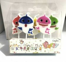 BABY SHARK CANDLES 5 PIECE PACK HAPPY BIRTHDAY DECORATIONS BIRTHDAY CAKE CANDLE