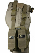 Tan MOLLE Webbing Tactical Leg Mag Pouch Rifle Pistol Utility Kangaroo Pouches