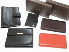 5item set GUCCI Wallet and Agenda Day Planner cover GG Leather U2694IAOA5