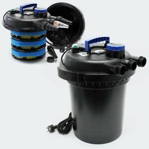 SUNSUN CPF-250 Pressure Bio Filter 10000L for Pond Koi Water 4000 gal 13W UV