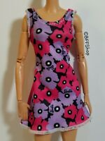 MATTEL PINK PURPLE FLORAL DRESS BARBIE FASHIONISTAS FASHION CLOTHES